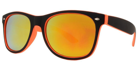 6RV-9557EZ Orange Shadow Wayfarer Sunglasses