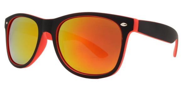 6RV-9557EZ Red Shadow Wayfarer Sunglasses