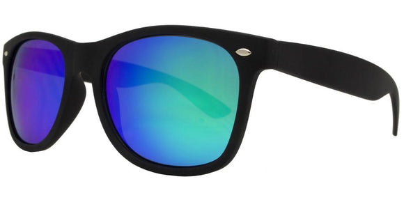 F8221EZ Green Soft Touch Wayfarer Sunglasses