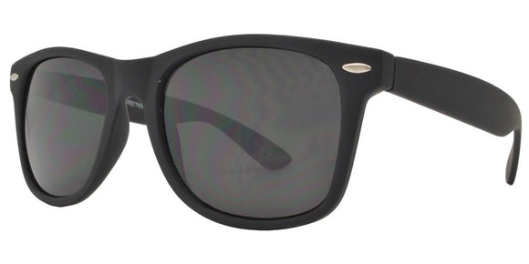 F8221EZ Dark Black Soft Touch Wayfarer Sunglasses