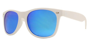 6RV-7114QS White Color Mirror Wayfarer Sunglasses