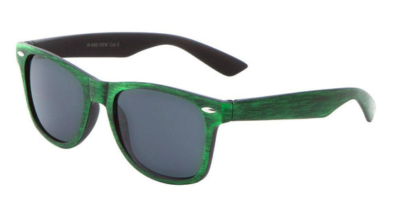 F703GG Green Wood Wayfarer Sunglasses