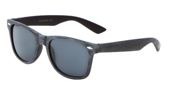 F703GG Grey Wood Wayfarer Sunglasses