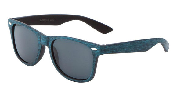 F703GG Blue Wood Wayfarer Sunglasses