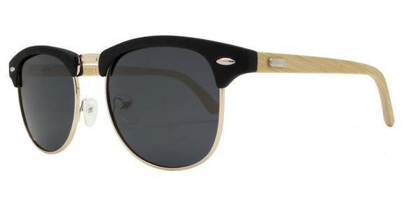 p8022ez Black Bamboo Soho Polarized Sunglasses