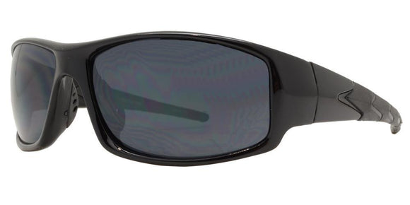 F8502EZ Black Sport Sunglasses