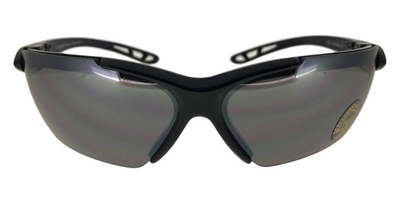 F1119B Black Wrap Around Sunglasses