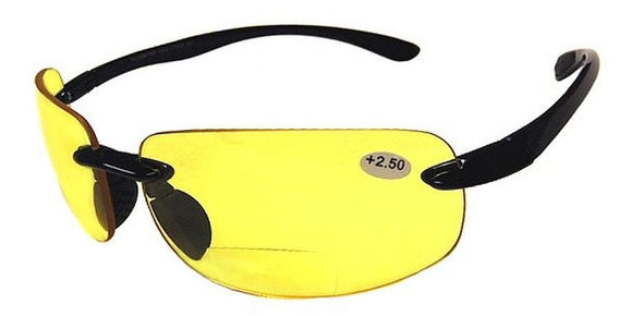 37BBF Bifocal Yellow Night Vision Glasses