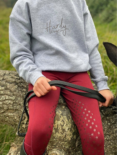 Hardy Equestrian Children's Rising Star Grey Sweatshirt 7