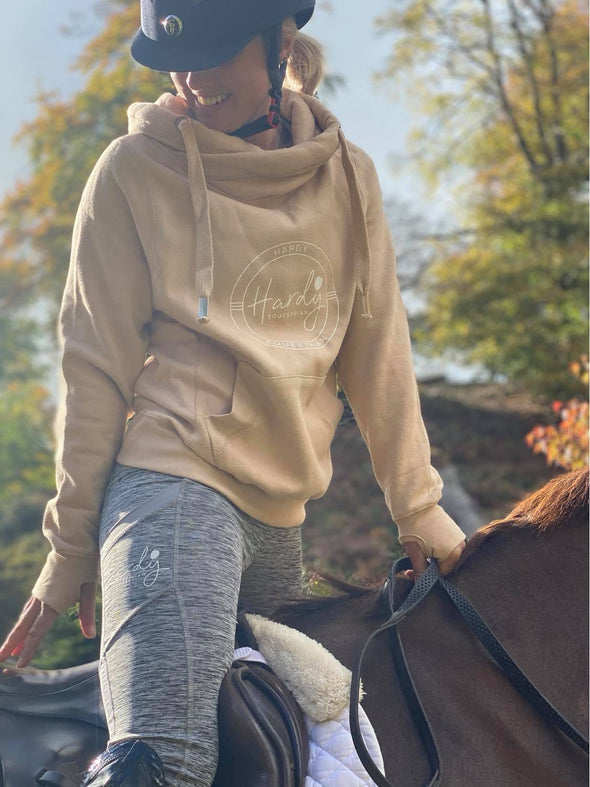 Hardy Equestrian Women's Cowl Neck Nude Hoodie