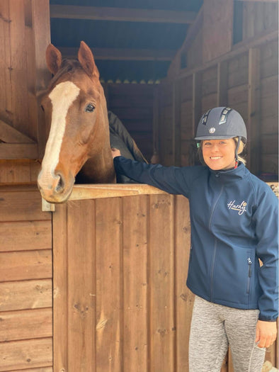 Hardy Equestrian Women's Navy Soft Shell Jacket