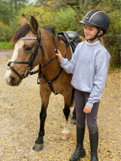 Hardy Equestrian Children's Riding Star Grey Riding Leggings