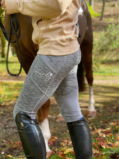 Hardy Equestrian Women's Grey Sport Riding Leggings