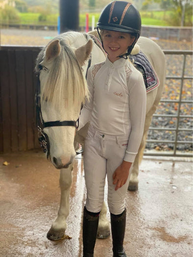 Hardy Equestrian Children's White Lace Show Shirt