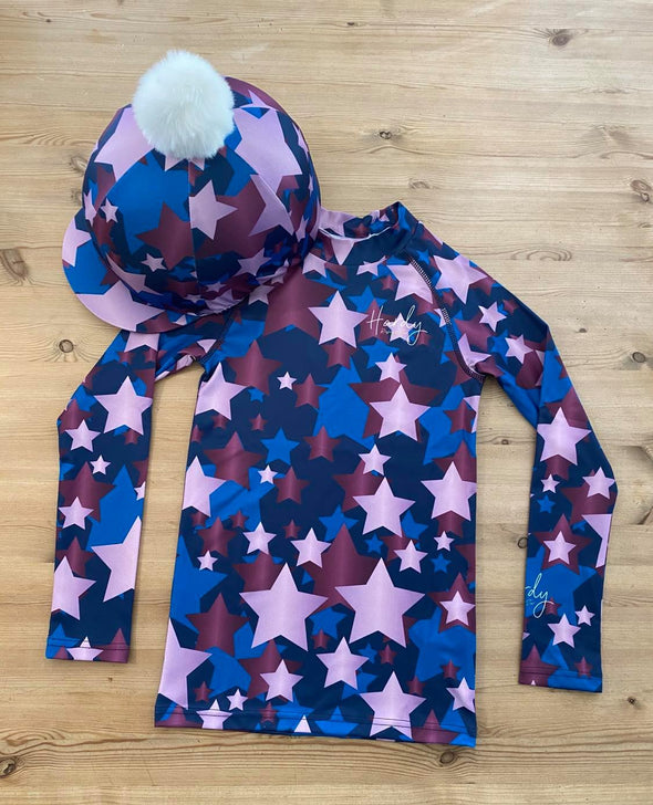 Hardy Equestrian Children's Midnight And Orchid Cross Country Set