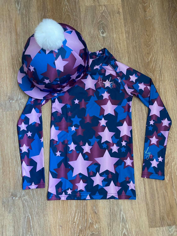 Hardy Equestrian Children's Midnight And Orchid Cross Country Set 2
