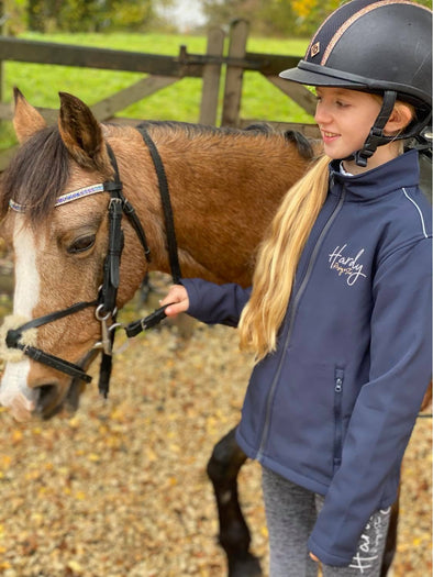 Hardy Equestrian Children's Rising Star Navy Soft Shell Jacket 2