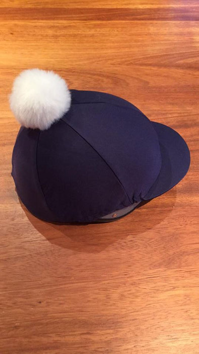 Linlithgow & Stirlingshire Pony Club Hat Cover Navy