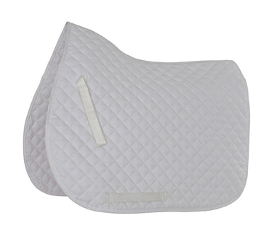 Lucton Equestrian Team White Saddle Pad