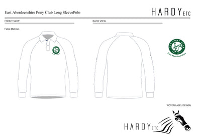 East Aberdeenshire Pony Club Long Sleeved Polo Shirt