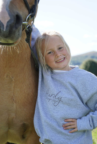 Hardy Equestrian Children's Rising Star Grey Sweatshirt