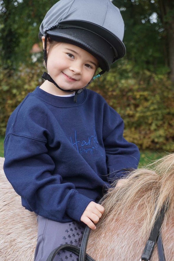 Hardy Equestrian Children's Rising Star Navy Sweatshirt