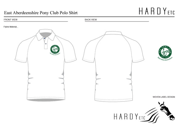 East Aberdeenshire Pony Club Short Sleeved Polo Shirt