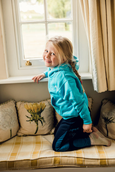 Hardy Equestrian Children's Turquoise Yarkhill Hoodie