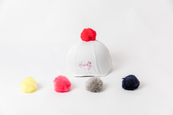 Perton White Hat Silk With Removable Pom Pom Various Colours