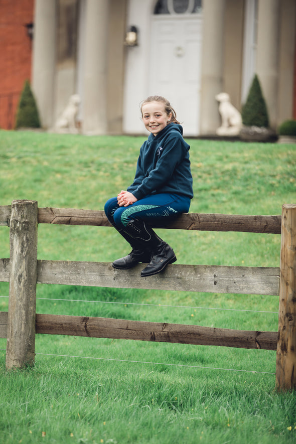 Hardy Equestrian Children's Navy Marlbrook Hoodie 2