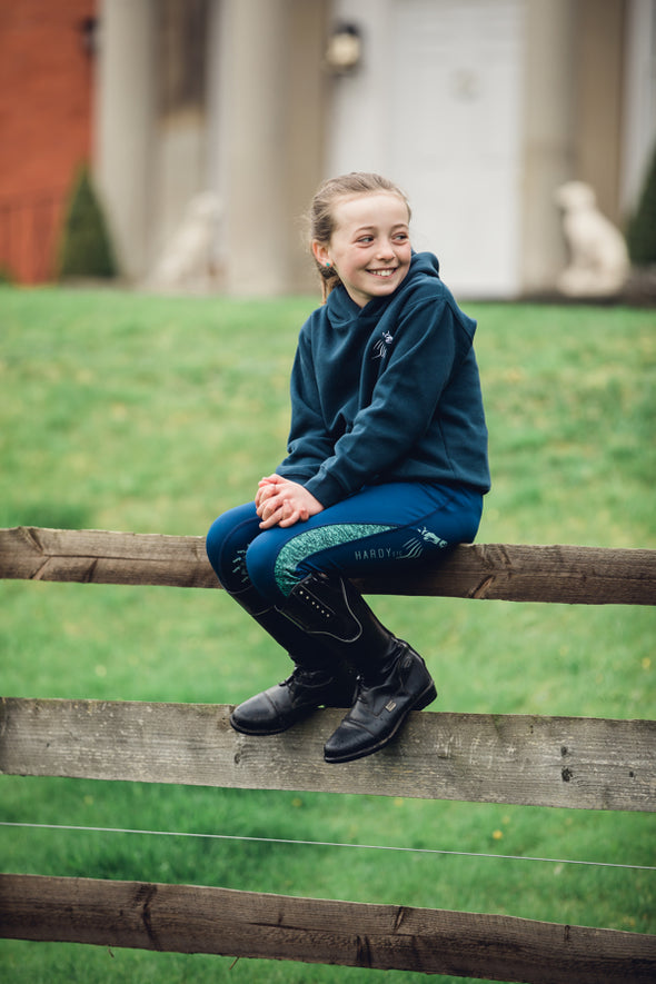 Hardy Equestrian Children's Navy Marlbrook Hoodie 4
