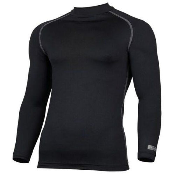 Childrens Rhino Long Sleeved Base Layer Top Black