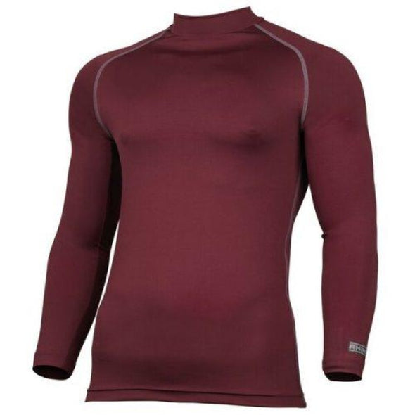 Childrens Rhino Long Sleeved Base Layer Top Maroon