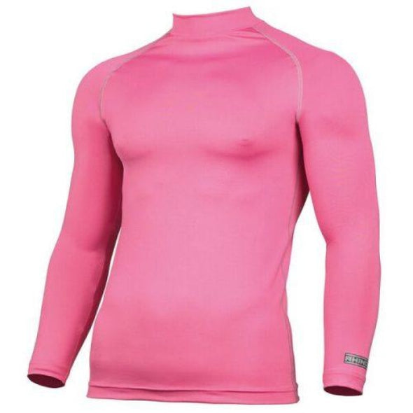 Childrens Rhino Long Sleeved Base Layer Top Pink