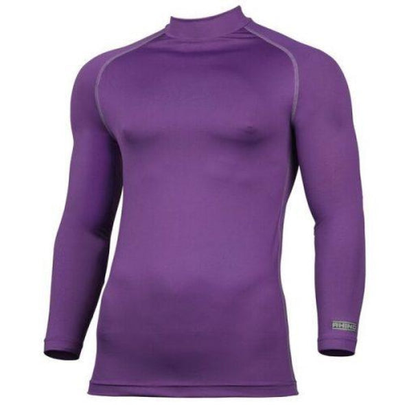 Childrens Rhino Long Sleeved Base Layer Top Purple