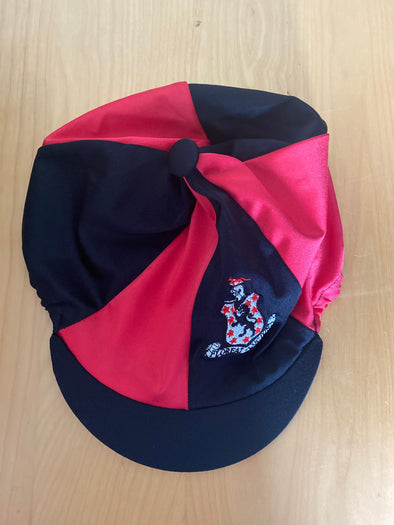 Lucton Equestrian Team Black And Red Hat Silk