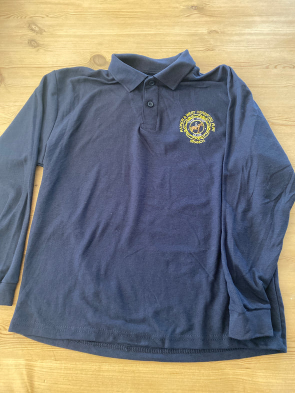 Radnor And West Hereford Pony Club Children's Long Sleeved Polo Shirt 2
