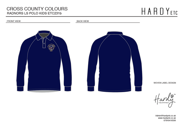 Radnor And West Hereford Pony Club Children's Long Sleeved Polo Shirt