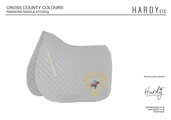 Radnor And West Hereford Pony Club Saddle Pad