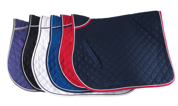Lucton Equestrian Team Black And White Piping Saddle Pad