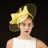 Yellow fascinator hat shop Louisville Hat Haven