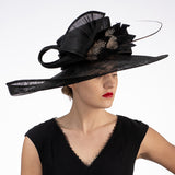 Black Kentucky derby hat Louisville Hat shop Hat Haven