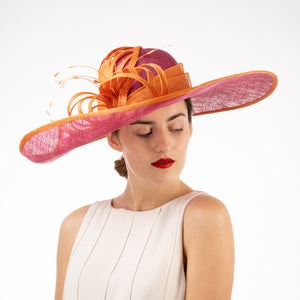 Orange and pink Kentucky derby hats Louisville Hat shop Hat Haven