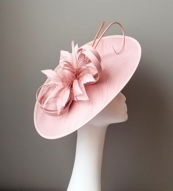 Kentucky Derby fascinators  Louisville Hat Haven blush pink fascinator