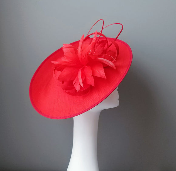 Kentucky Derby fascinators Louisville Hat Haven red fascinator