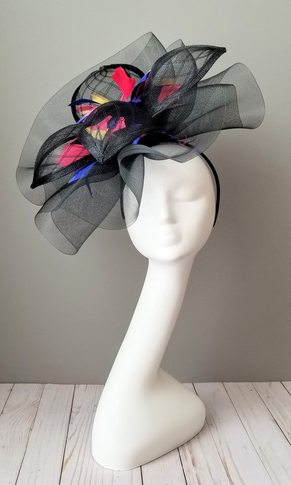 Kentucky Derby fascinators  Louisville Hat Haven Black fascinator