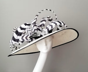 Black and white Kentucky derby hat hat shop Louisville Hat Haven