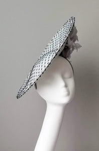 Kentucky Derby fascinators Louisville Hat Haven silver fascinator grey gray