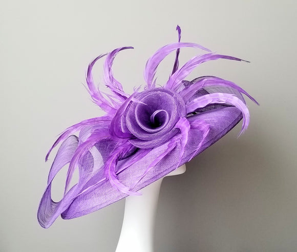 Purple Kentucky derby hats Louisville Hat shop Hat Haven sinamay custom hats