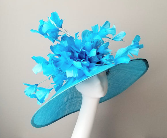 Blue Kentucky derby hats Louisville Hat shop Hat Haven milliner